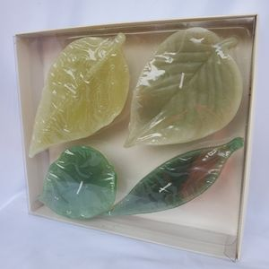 Pottery Barn Leaf Candles Set of Four